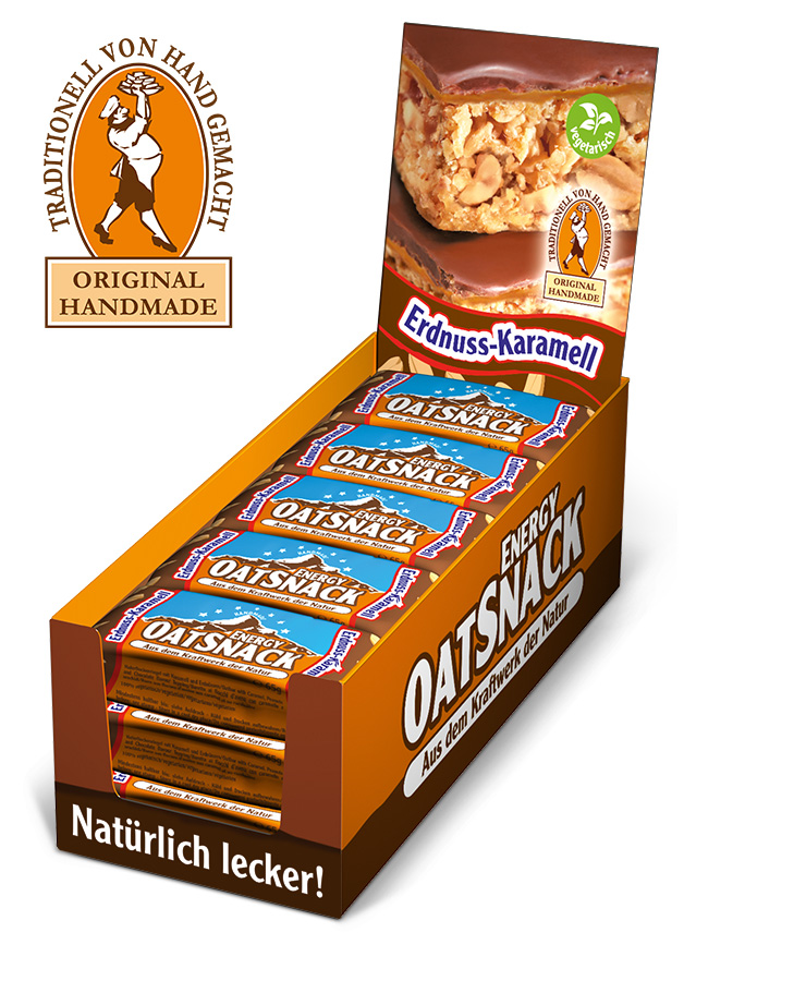 Energy Oatsnack Erdnuss-Karamell Display
